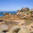 Pink granite rocks in Ploumanach — Stock Photo