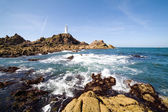 Corbiere lighthouse in Jersey, The Channel Islands — Stock Photo