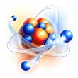 Molecule, atoms and particles — Stock Vector