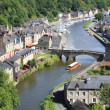 Dinan on the Rance, Brittany, France — Stock Photo