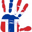 Norway flag handprint — Foto Stock