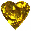 Stock Photo: Golden heart