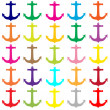 Colorful anchors pattern — Stock Photo