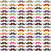 Mustache pattern with polka dots — Stock Photo