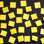 Yellow notes — Stock Photo #12317377