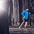 Runing in the forest — Stock Photo