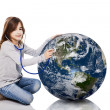 Checking the planet health — Stock Photo #13654414