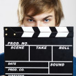 Showing clapboard — Stock Photo #14150909