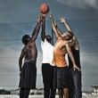 Stock Photo: Street basketball team