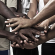 Hands together in union - Stock Photo