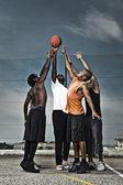 Street basketball team — Stock Photo