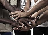 As mãos juntas em união — Foto Stock
