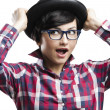 Nerd Girl — Stock Photo