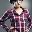 Fashion Nerd Girl — Stock Photo