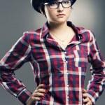 Fashion Nerd Girl — Stock Photo