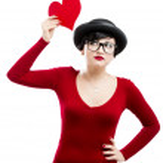 Valentine's girl — Stock Photo