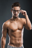 Handsome shirtless male model — Stock Photo