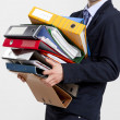 Stock Photo: Business mcarrying folders