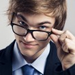 Business man with glasses — Stok fotoğraf