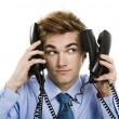 Answering multiple calls at same time — Stock Photo #27580645