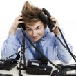 Answering multiple calls at same time — Stock Photo #27580655