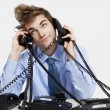 Stock Photo: Answering calls