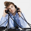 Answering calls — Stock Photo