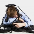 Wrapped in telephones — Stock Photo #27580677