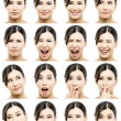Different expressions — Stock Photo