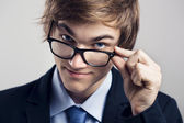 Business man with glasses — Stock Photo