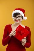 Santa mädchen — Stockfoto