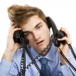 Answering multiple calls at the same time — Stock Photo #41311499