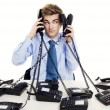 Answering multiple calls at the same time — Stock Photo #41312009