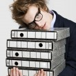 Business mcarrying folders — Stock Photo #41314127