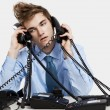 Answering calls — Stock Photo #41315323