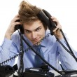 Answering multiple calls at the same time — Stock Photo #41316857