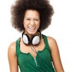 donna felice con cuffie — Foto Stock #41317467