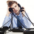 Answering multiple calls at the same time — Stock Photo #41317525