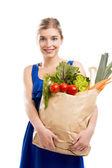 Vrouw met groenten — Stockfoto
