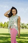 Beautiful African American woman — Stockfoto