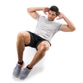 Man doing exercises — Stock Photo