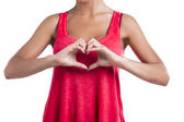 Making  a heart symbol with hands — Stock Photo
