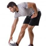 Постер, плакат: Man doing exercises