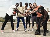баскетбольная команда — Стоковое фото