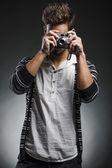 Mode junger mann — Stockfoto