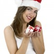 Santa woman with gifts — Stock Photo #5063510