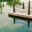 Railing posts — Stock Photo