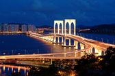 Night of bridge — Stock Photo