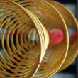 Stock Photo: Three big incense coils