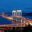 The night scenery of bridge in Macau — Stock Photo #21425319